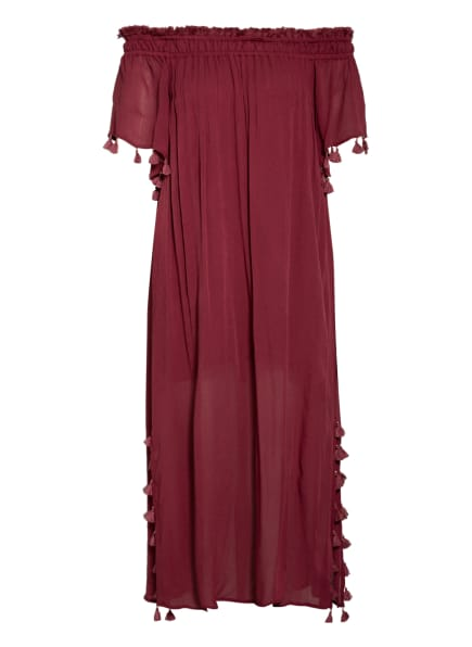 watercult Off-Shoulder-Kleid SOLID CRUSH, Farbe: DUNKELROT (Bild 1)