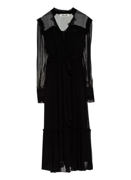 DIANE VON FURSTENBERG Kleid MEREDITH mit Volantbesatz, Farbe: SCHWARZ (Bild 1)