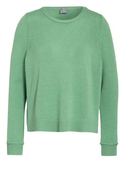 FTC CASHMERE Cashmere-Pullover, Farbe: GRÜN (Bild 1)