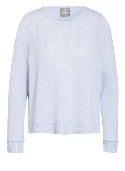 FTC CASHMERE Cashmere-Pullover, Farbe: HELLBLAU (Bild 1)