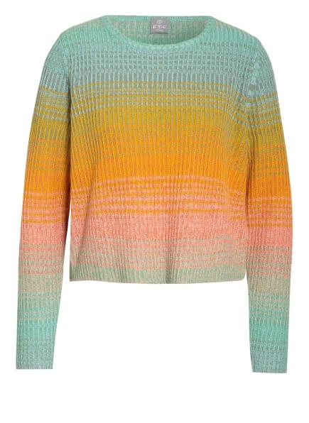 FTC CASHMERE Cashmere-Pullover, Farbe: HELLGRÜN/ GELB/ HELLROT (Bild 1)
