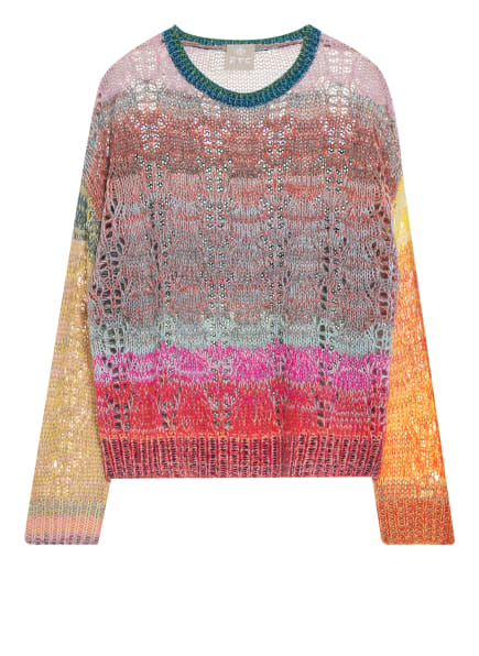 FTC CASHMERE Cashmere-Pullover, Farbe: BLAU/ GELB/ ROT (Bild 1)