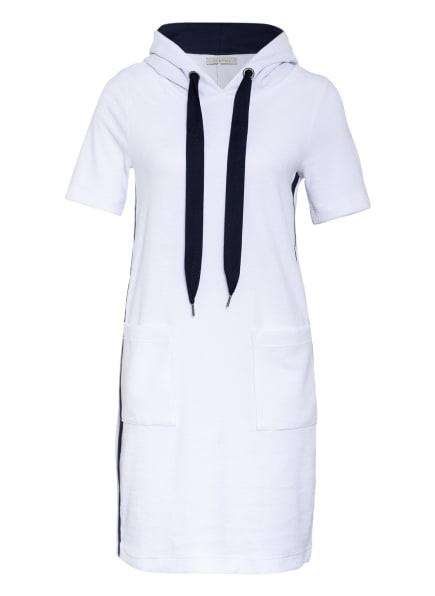 lilienfels Hoodie-Kleid mit Galonstreifen, Farbe: WEISS/ SCHWARZ (Bild 1)