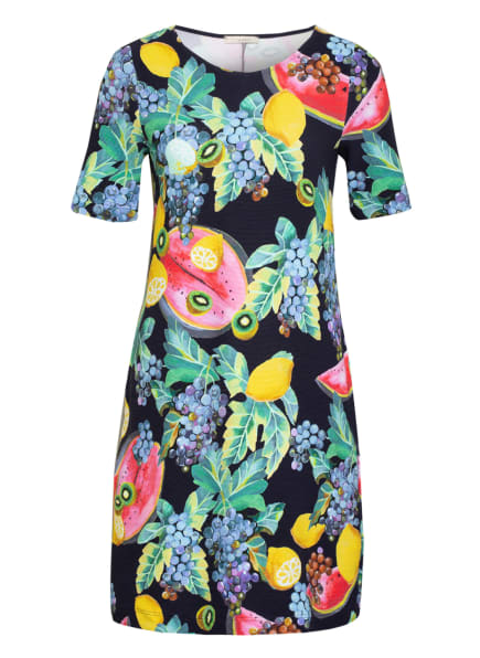 lilienfels Jerseykleid, Farbe: DUNKELBLAU/ GELB/ GRÜN (Bild 1)
