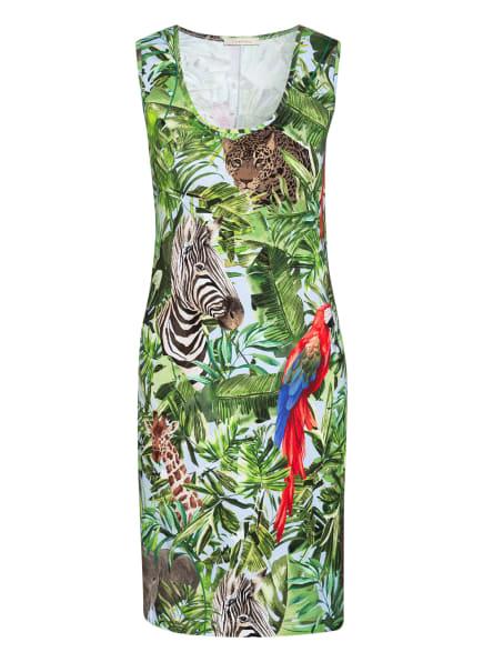 lilienfels Jerseykleid, Farbe: GRÜN/ HELLBRAUN/ ROT (Bild 1)
