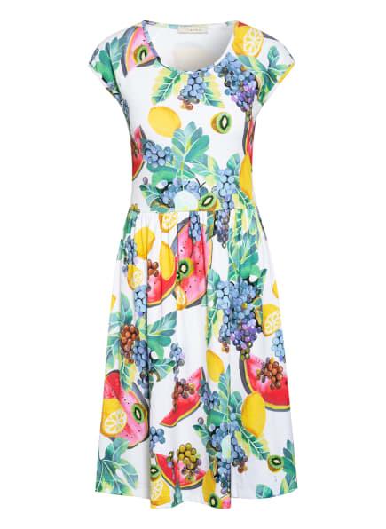 lilienfels Jerseykleid, Farbe: ECRU/ GRÜN/ PINK (Bild 1)