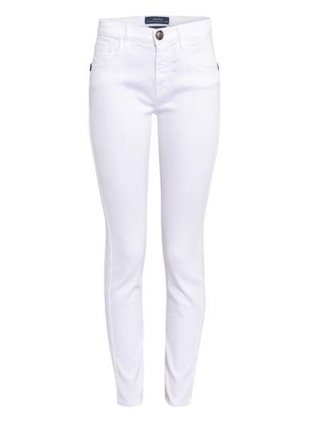 JACOB COHEN Slim Fit Jeans mit Schmucksteinbesatz , Farbe: 111 WEISS (Bild 1)