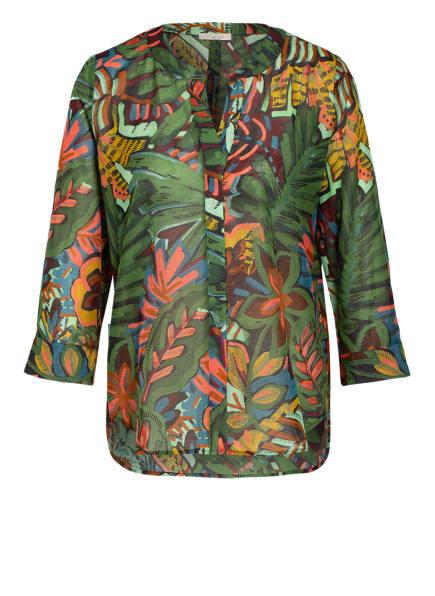lilienfels Blusenshirt, Farbe: DUNKELGRÜN/ HELLROT (Bild 1)