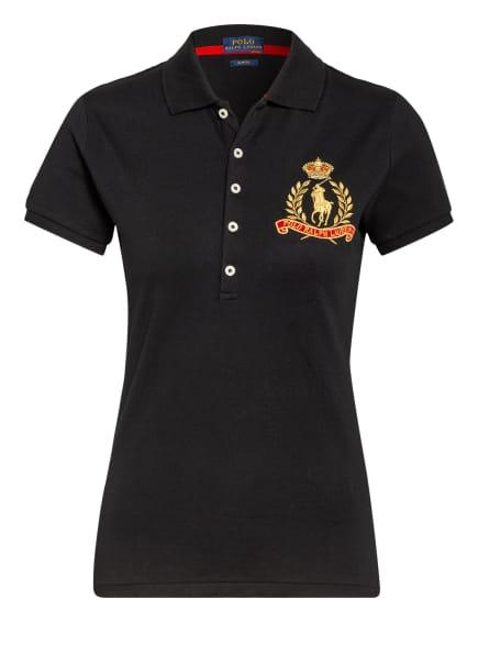 POLO RALPH LAUREN Piqué-Poloshirt, Farbe: SCHWARZ (Bild 1)