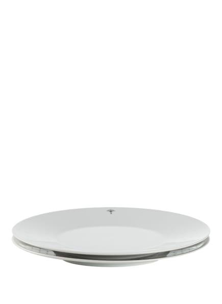 JOOP! 2er-Set Dessertteller SINGLE CORNFLOWER, Farbe: WEISS (Bild 1)