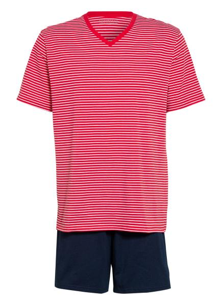 SCHIESSER Shorty-Schlafanzug , Farbe: ROT/ WEISS/ DUNKELBLAU (Bild 1)