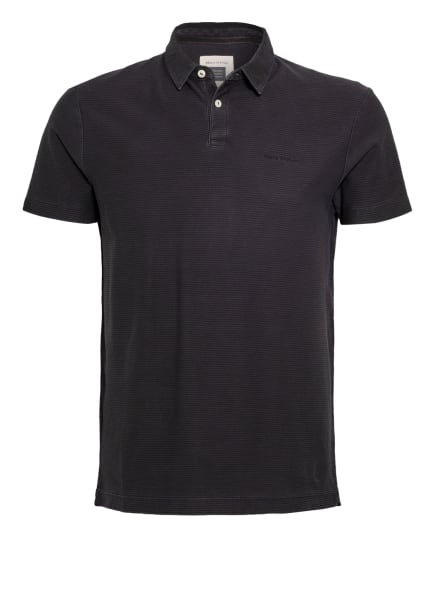 Marc O'Polo Jersey-Poloshirt Regular Fit, Farbe: GRAU/ DUNKELGRAU (Bild 1)