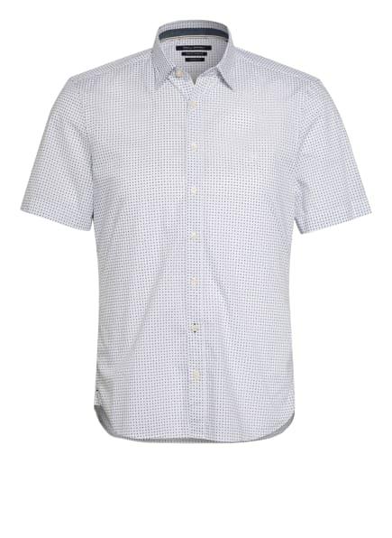 Marc O'Polo Kurzarm-Hemd Shaped Fit, Farbe: WEISS/ DUNKELBLAU (Bild 1)