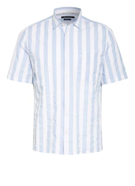 Marc O'Polo Kurzarm-Hemd Regular Fit , Farbe: WEISS/ HELLBLAU (Bild 1)