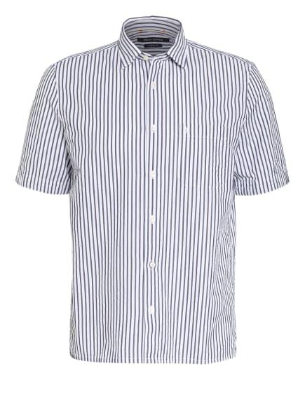 Marc O'Polo Kurzarm-Hemd Regular Fit , Farbe: WEISS/ DUNKELBLAU (Bild 1)