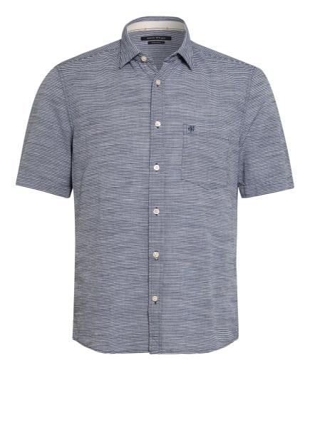Marc O'Polo Kurzarm-Hemd Regular Fit , Farbe: DUNKELBLAU/ WEISS (Bild 1)