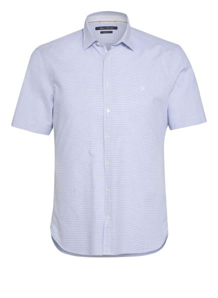 Marc O'Polo Kurzarm-Hemd Shaped Fit, Farbe: WEISS/ HELLBLAU/ SCHWARZ (Bild 1)