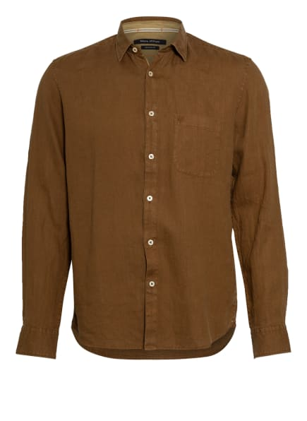 Marc O'Polo Leinenhemd Regular Fit, Farbe: BRAUN (Bild 1)