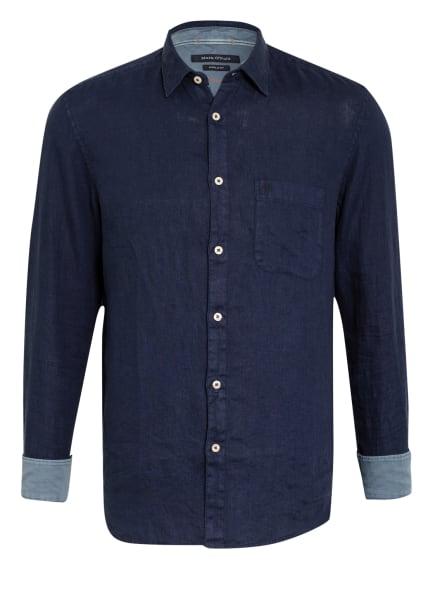Marc O'Polo Leinenhemd Regular Fit, Farbe: DUNKELBLAU (Bild 1)