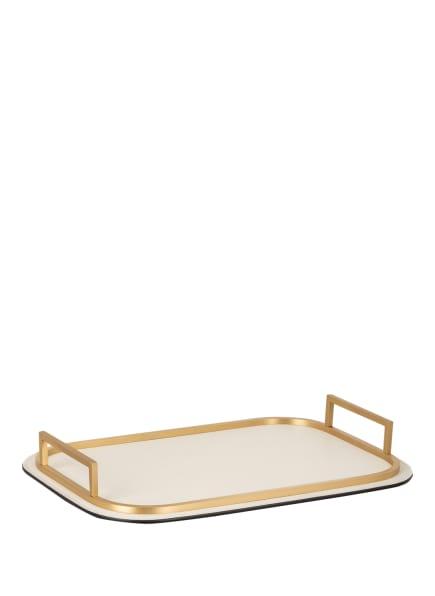 GIOBAGNARA Tablett BELLINI SMALL, Farbe: CREME/ GOLD (Bild 1)