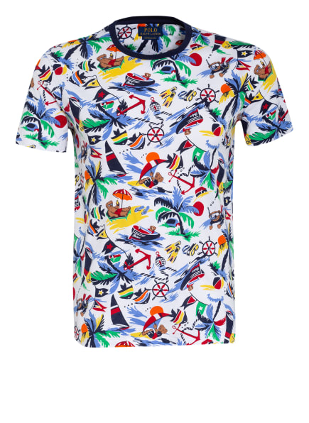 POLO RALPH LAUREN T-Shirt, Farbe: WEISS/ DUNKELBLAU/ HELLBLAU (Bild 1)
