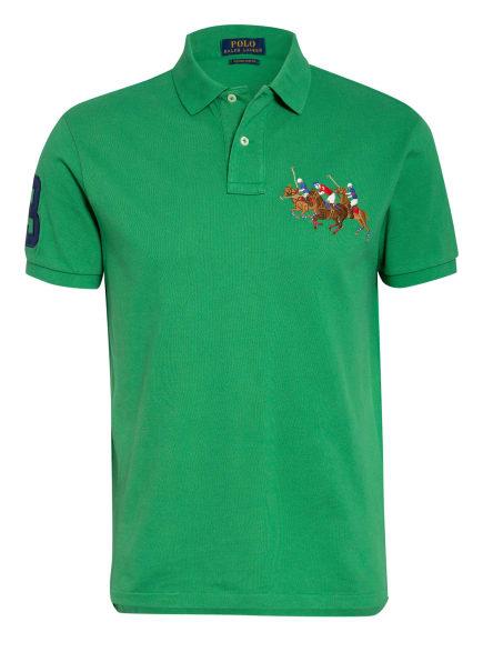POLO RALPH LAUREN Piqué-Poloshirt Custom Slim Fit, Farbe: GRÜN (Bild 1)