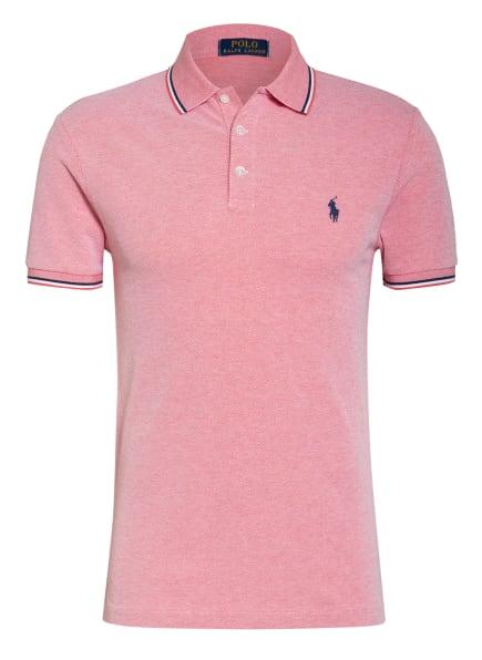 POLO RALPH LAUREN Piqué-Poloshirt Slim Fit, Farbe: ROT/ WEISS/ DUNKELBLAU (Bild 1)