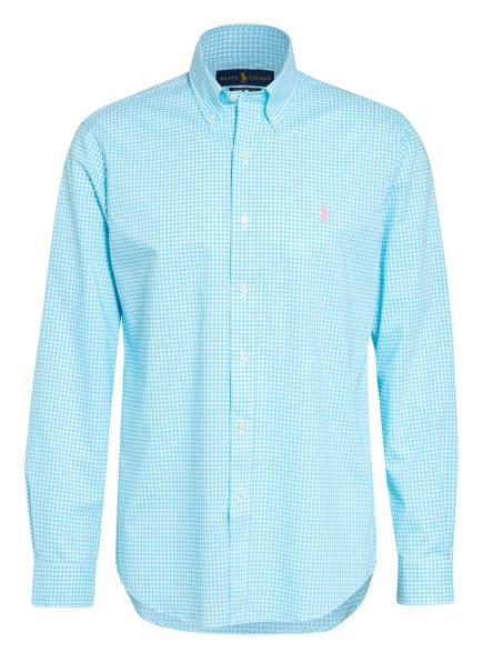 POLO RALPH LAUREN Hemd Custom Fit, Farbe: TÜRKIS/ WEISS (Bild 1)