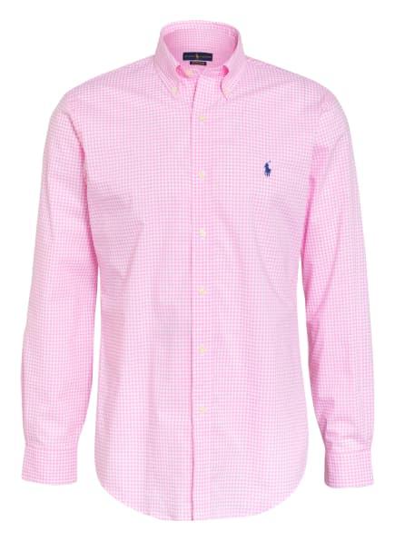 POLO RALPH LAUREN Hemd Custom Fit, Farbe: WEISS/ PINK (Bild 1)