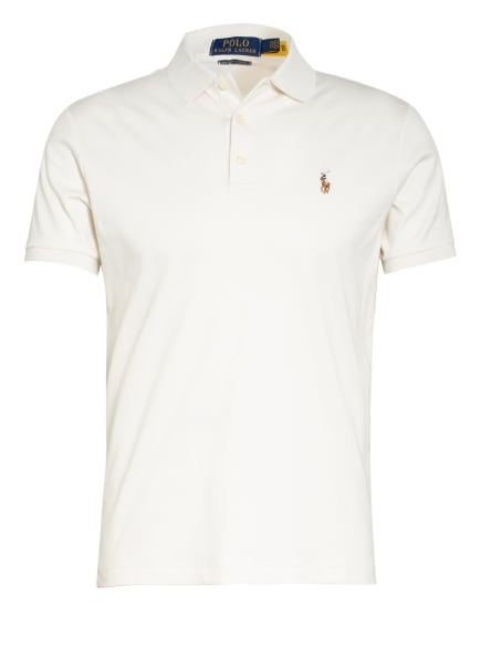 POLO RALPH LAUREN Jersey-Poloshirt Custom Slim Fit, Farbe: CREME (Bild 1)