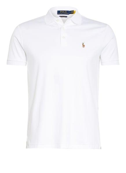 POLO RALPH LAUREN Jersey-Poloshirt Custom Slim Fit, Farbe: WEISS (Bild 1)