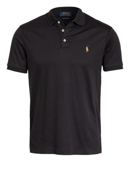 POLO RALPH LAUREN Jersey-Poloshirt Custom Slim Fit, Farbe: SCHWARZ (Bild 1)