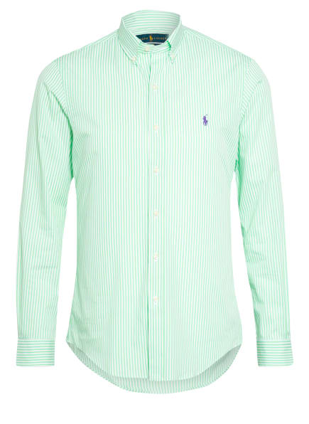 POLO RALPH LAUREN Hemd Slim Fit, Farbe: GRÜN/ WEISS (Bild 1)