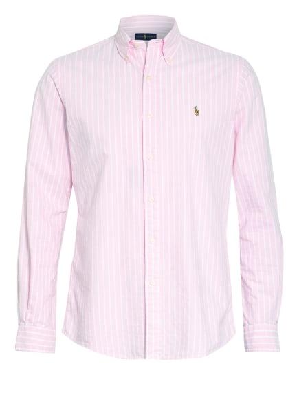 POLO RALPH LAUREN Hemd Custom Fit, Farbe: HELLROSA/ WEISS (Bild 1)