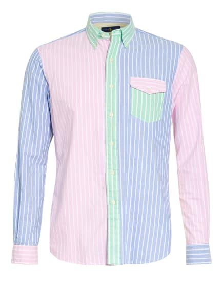 POLO RALPH LAUREN Hemd Custom Fit, Farbe: HELLBLAU/ HELLROSA/ WEISS (Bild 1)