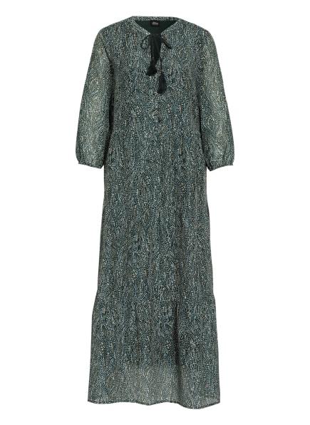 s.Oliver BLACK LABEL Kleid mit 3/4-Arm und Seide, Farbe: ECRU/ DUNKELGRÜN (Bild 1)