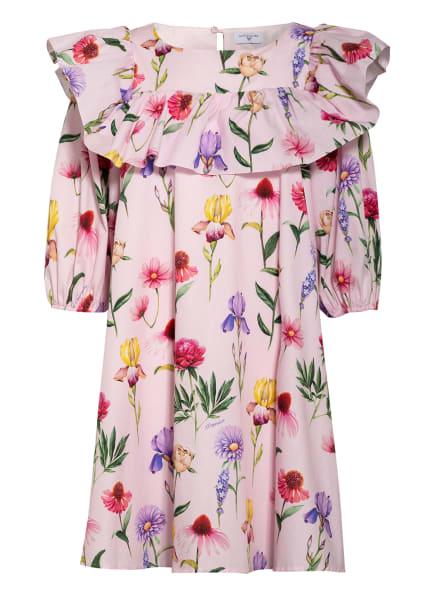 MONNALISA Kleid mit 3/4-Arm und Volantbesatz, Farbe: ROSA/ GRÜN/ LILA (Bild 1)