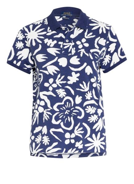 POLO RALPH LAUREN Piqué-Poloshirt, Farbe: WEISS/ BLAU (Bild 1)