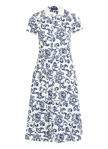 POLO RALPH LAUREN Piqué-Polo-Hemdblusenkleid, Farbe: WEISS/ DUNKELBLAU (Bild 1)