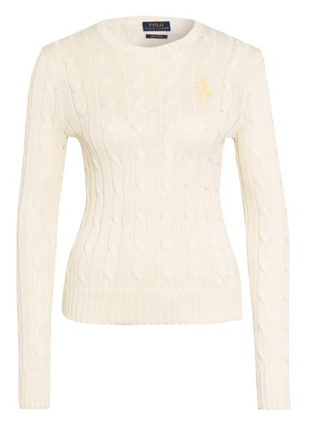 POLO RALPH LAUREN Pullover mit Perlenbesatz, Farbe: ECRU (Bild 1)