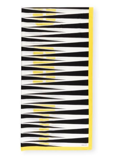 MARC CAIN Schal mit Seide, Farbe: SCHWARZ/ WEISS/ GELB (Bild 1)