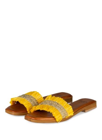 È MIA Pantoletten, Farbe: GELB/ GOLD (Bild 1)