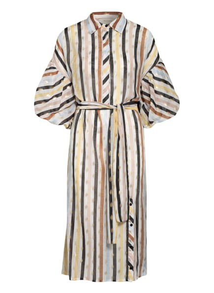 MUNTHE Kleid PALMETTO, Farbe: WEISS/ BRAUN/ GOLD (Bild 1)