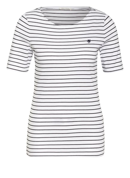 Marc O'Polo T-Shirt, Farbe: WEISS/ SCHWARZ (Bild 1)