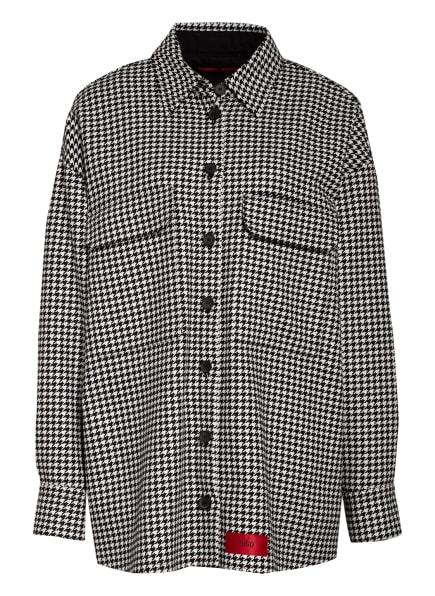 HUGO Overjacket AVIELY mit Wolle, Farbe: SCHWARZ/ WEISS (Bild 1)
