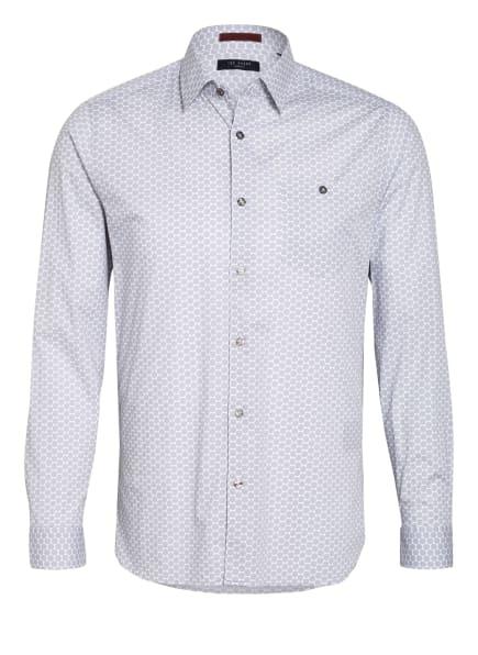 TED BAKER Hemd MIDSPO Slim Fit , Farbe: GRAU/ WEISS (Bild 1)