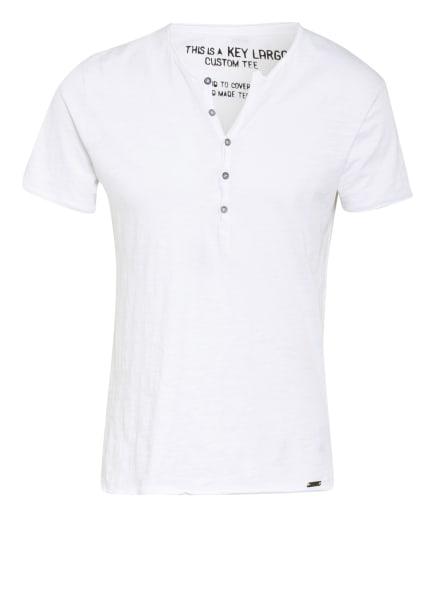 KEY LARGO Henley-Shirt LEMONADE, Farbe: WEISS (Bild 1)