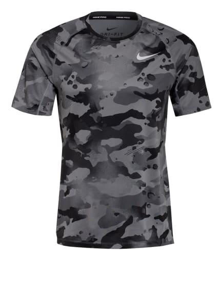 Nike T-Shirt PRO, Farbe: GRAU/ DUNKELGRAU/ SCHWARZ (Bild 1)