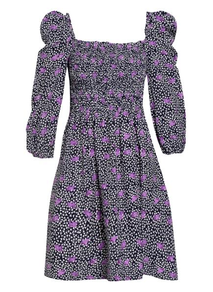 maje Kleid RAPPA mit Leinen, Farbe: LILA/ WEISS/ SCHWARZ (Bild 1)