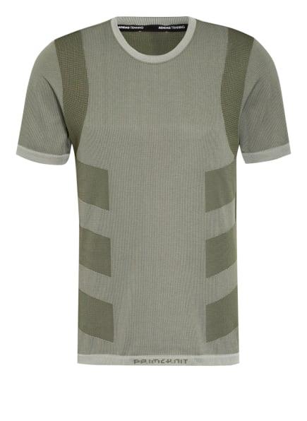 adidas T-Shirt STUDIO TECHFIT, Farbe: HELLGRÜN/ OLIV (Bild 1)